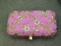 Party Wear Printed Ladies Clutch, Size: 7*4 Inch