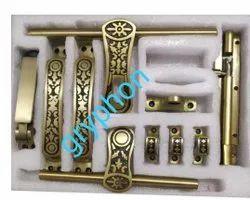 14mm Brass Antique Door Kit, 10 Inch