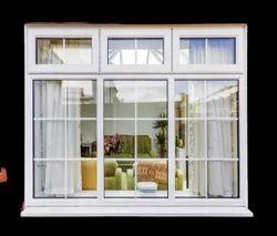 white Walnut UPVC Window, For Home