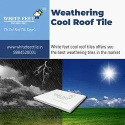 Roof Tiles White Feet Tile - Silverplus - 254mm x 254mm x 15mm