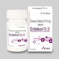 Entecavir Tablet Ip 0.5 Mg Entekor-0.5 Tablets, Treatment: Hepatitis B