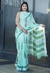 Multicolor Linen Sarees
