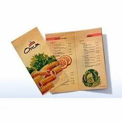 Take Away Menu Card Printing Services