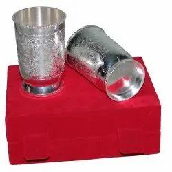 Silver Decorative Glass Vases
