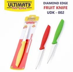 Plastic And Steel Ultimate Diamond Edge Fruit Knife, For Kitchen