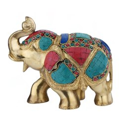 6 inch Elephant Stone Gift Pack Box