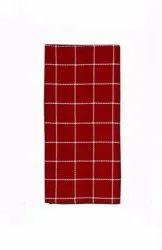 Strips Maroon Check Terry Cotton Kitchen Towel, Wash Type: Machine And Hand Wash