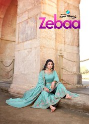 Your Choice Zebaa Jam Silk With Embroidered Sharara Suit Catalog