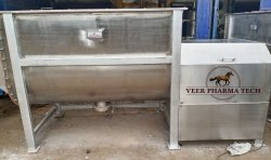 Mild Steel Horizontal Ribbon Blender For Industrial Capacity 2000 Kg