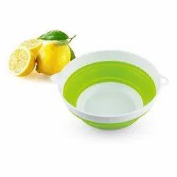 SANSUI Kitchen Scale - Bowl- Foldable Round - White