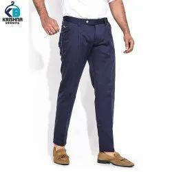 Regular Fit Regular Wear Cotton Mens Trousers
