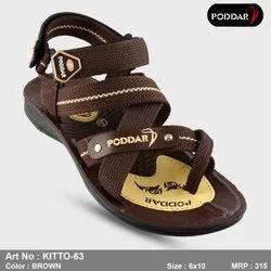 Multicolor Multi Colors Poddar Men''s Sandal, Model Name/Number: Kitto-63, Size: 6-10