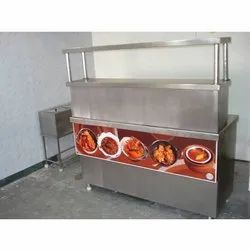 Mj Silver SS Chaat Counter, For Restaurant, Warranty: 1 Year