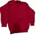 Vp Oswal Winter Woolen V Neck Uniform Sweater, For School, Size: S-l