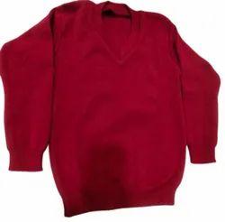 Woolen V Neck Uniform Sweater