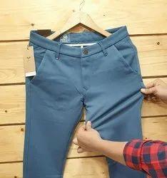 Plain Mens Lycra Trouser, Size: 28 To 34