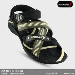 Men Multicolor Poddar Gents PU Sandal, Model Name/Number: KITTO-66, Size: 6-10