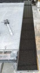 Polished Stone Black Granite strips, For Staircase, Thickness: 15-20 mm