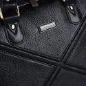 Hammonds Flycatcher Genuine Leather Black 13 Inch Laptop Messenger Bag