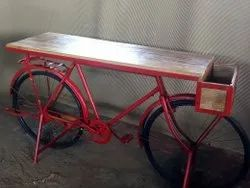 Red Wood & Iron Retro Industrial Furniture, For Home Decor