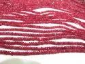 Natural Ruby Red Spinal Rondelle Faceted Top Quality 2 To 3mm Beads Sold Per Strand 8 Inches Long