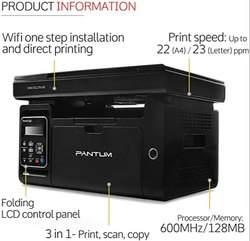 Pantum All in One M6502nw Laser Printer