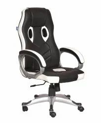 High Back Leatherette Gaming Any Time Chair Black & White (VJ-2025)