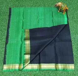 Festive Wear zari small Border SILK SAREES, 6.3 m (with blouse piece)
