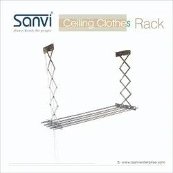 Stainless Steel Cloth Drying Stand, Shape: Line