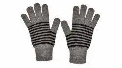 Grey Full Finger Winter Gloves