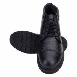 Black Formal Abon Leather Boot