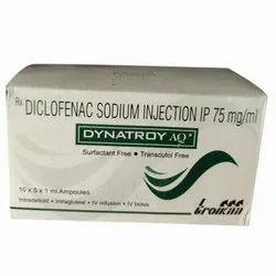 Dynatroy AQ Diclofenac Sodium Injection, Packaging Size: 10 X 5 X 1 Ml