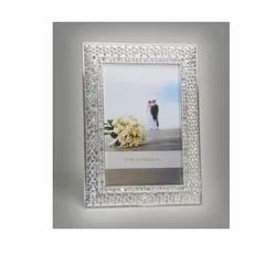 Crystal Studded Silver Photo Frame