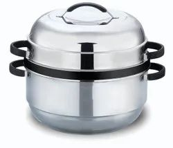 Silver Stainless Steel Rice Cooker, Capacity: 1.5 Kg, Size: 1 Litre
