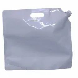 White Spout Pouch With Handle