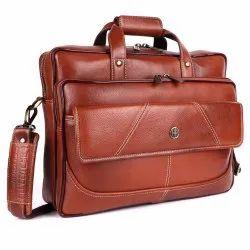 Hammonds Flycatcher Genuine Leather Black 15.6 Inch Premium Laptop Messenger Bag