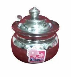 Stainless Steel Ghee Pot, Capacity: 200 Ml, Grade: SS302