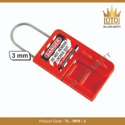 Stainless Steel & ABS Lockout Hasps TL - RPH - 3 Red Premier Hasp - 3mm Shackle, Electrical Purpose