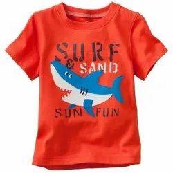 Orange Kids Cotton T Shirt