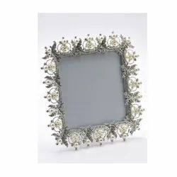 Square Beaded Pearl Photo Frame