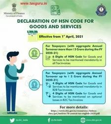 HSN Code For Goods and Service, in Pan India