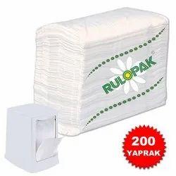 Plain White RP1309 Desktop Napkin Refill