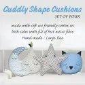 Heading: Cuddly Shape Cushion Combo (Set Of Four) 786