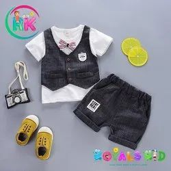 Grey Baby Boy Party Wear Suits - Imported