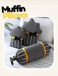Muffin Shape Designer Cushion Set Of Three