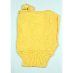 Yellow Kids Winter Woolen Cap