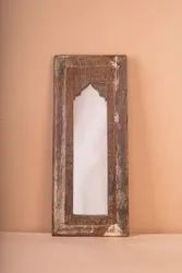 Distressed Reclaimed Wood Mirror Frame, Size/ Dimension: 24 Inch