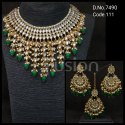 Fusion Fashion Jewellery Kundan Bridal Necklace Set