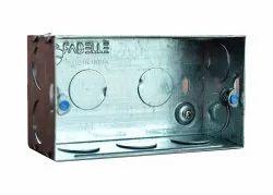 Fabelle Galvanized Iron (GI) 4 Modular GI Metal Electrical Box