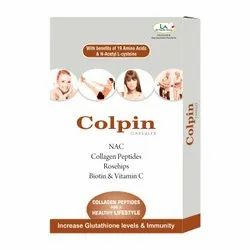 Collagen Builder For Hair And Skin With Biotin & Vitamin C, 10 Pure Veg Capsules